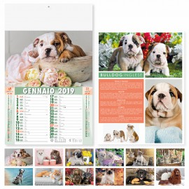 "Calendario illustrato ""cani e gatti"""