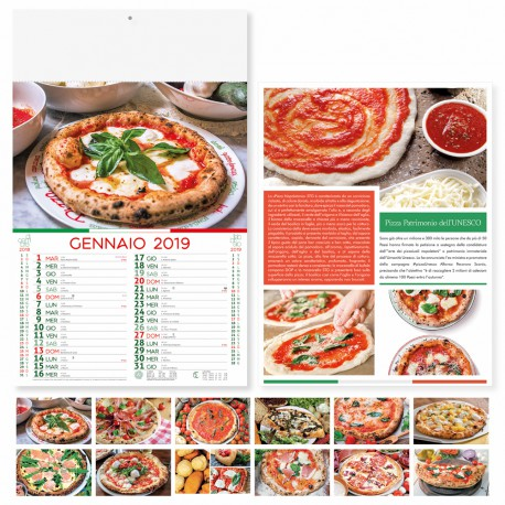 "Calendario illustrato ""pizza"""