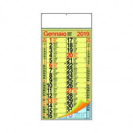 Calendario cinesino multicolor quadrettato maxi