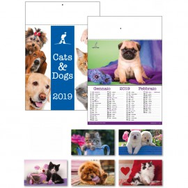 Calendario illustrato cani & gatti