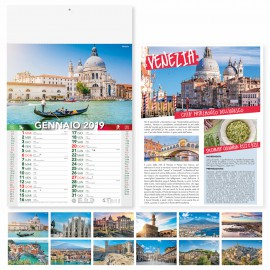 "Calendario illustrato ""cittÀ d'italia"""