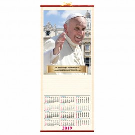 "Calendario in canna ""papa francesco"""