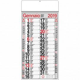 Calendario cinesino quadrettato maxi